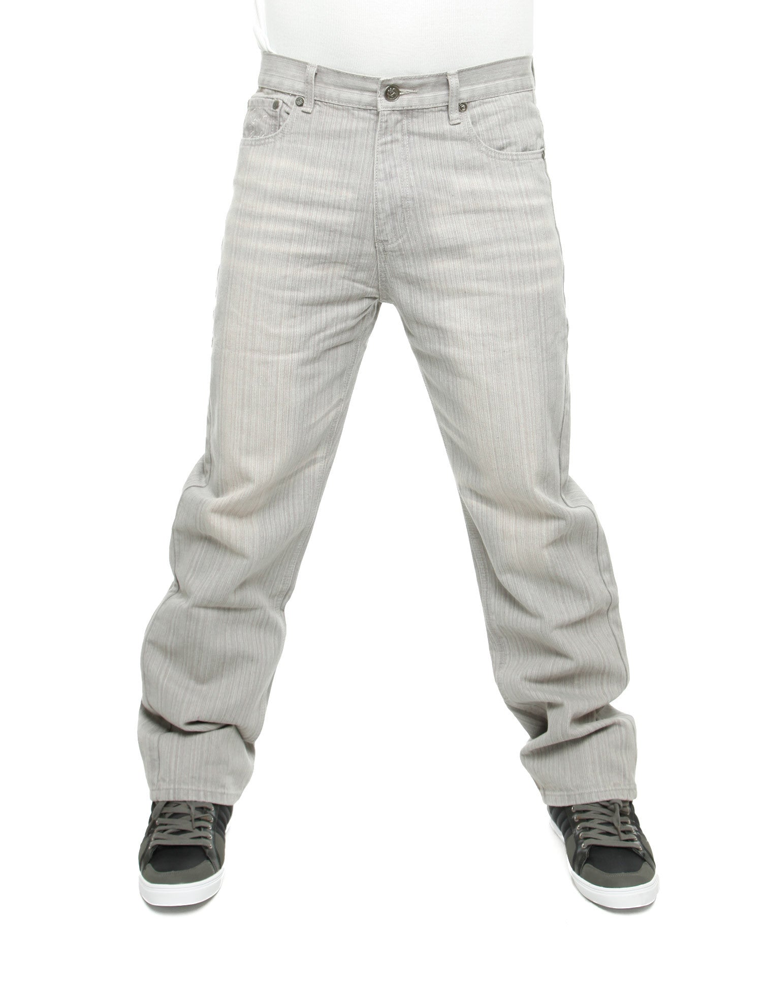 Raw Blue Regular Baggy Jeans Ice Grey