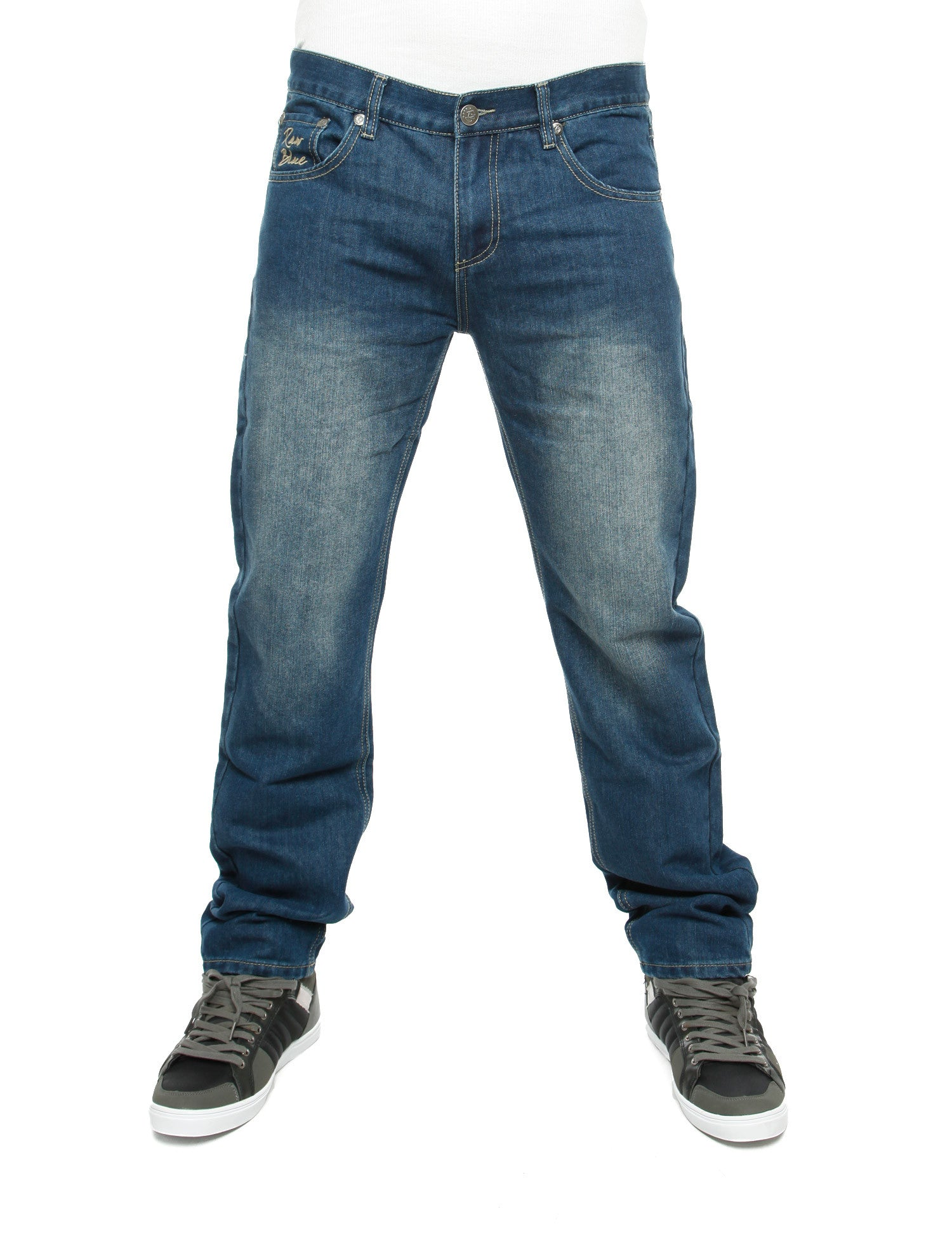Raw Blue Loose Fit Jeans Mid Black