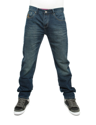 Raw Blue Loose Fit Jeans  Dark Blue