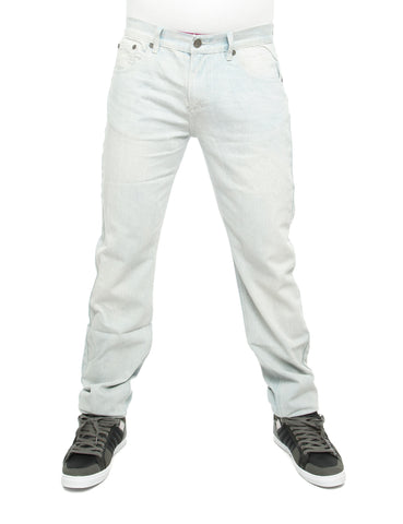 Raw Blue Loose Fit Jeans White Indigo Blue