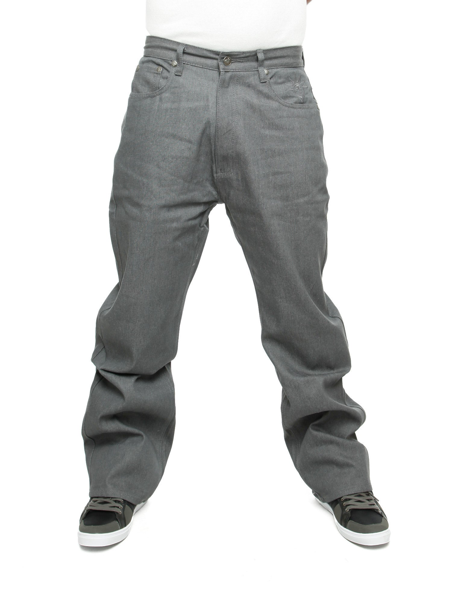 YLD Super Baggy Fit Jeans Raw Grey