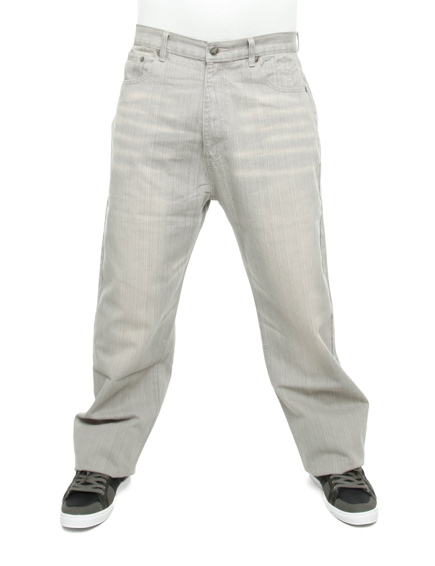 YLD Super Baggy Fit Jeans Ice Grey