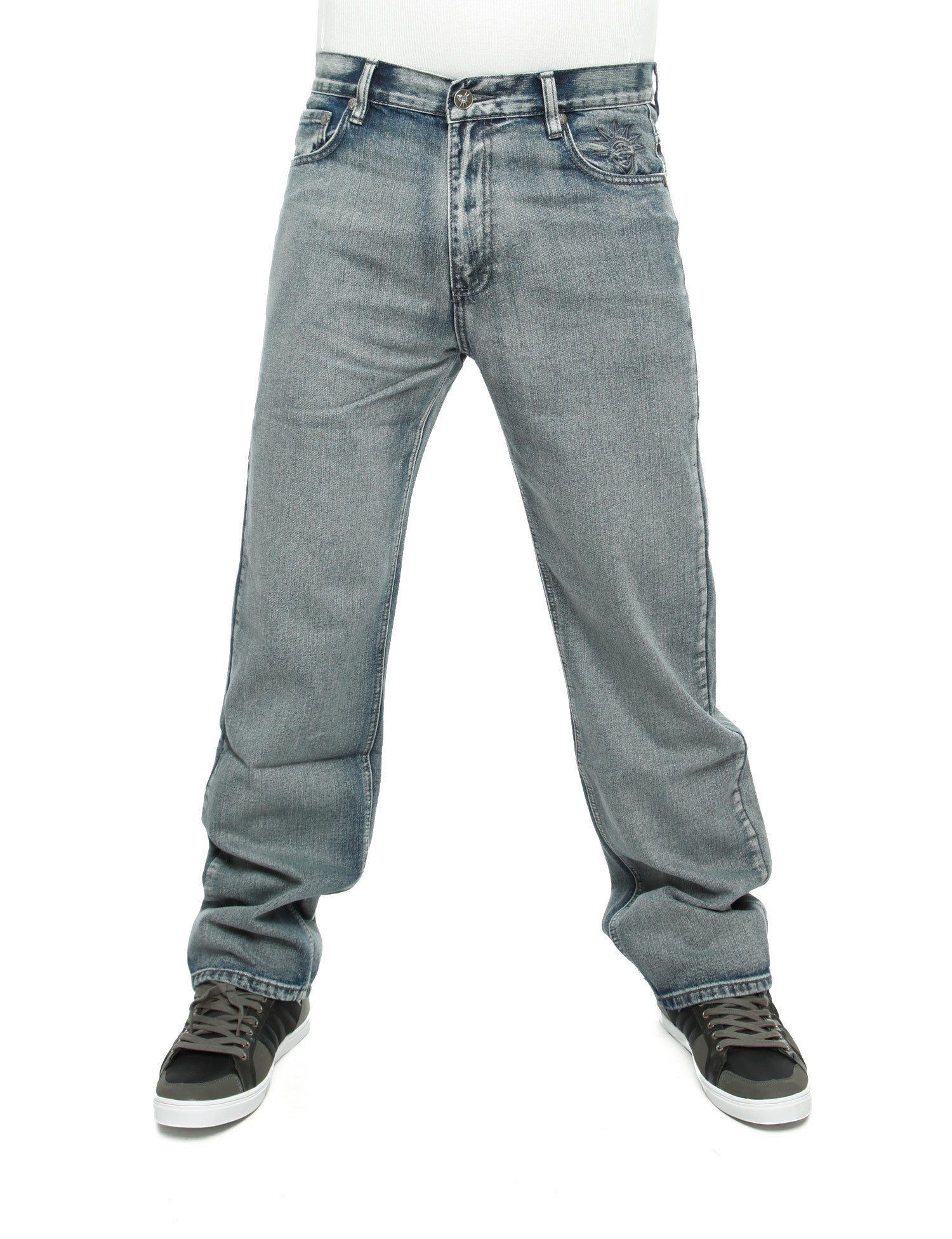 YLD Regular Baggy Jeans Washed Grey