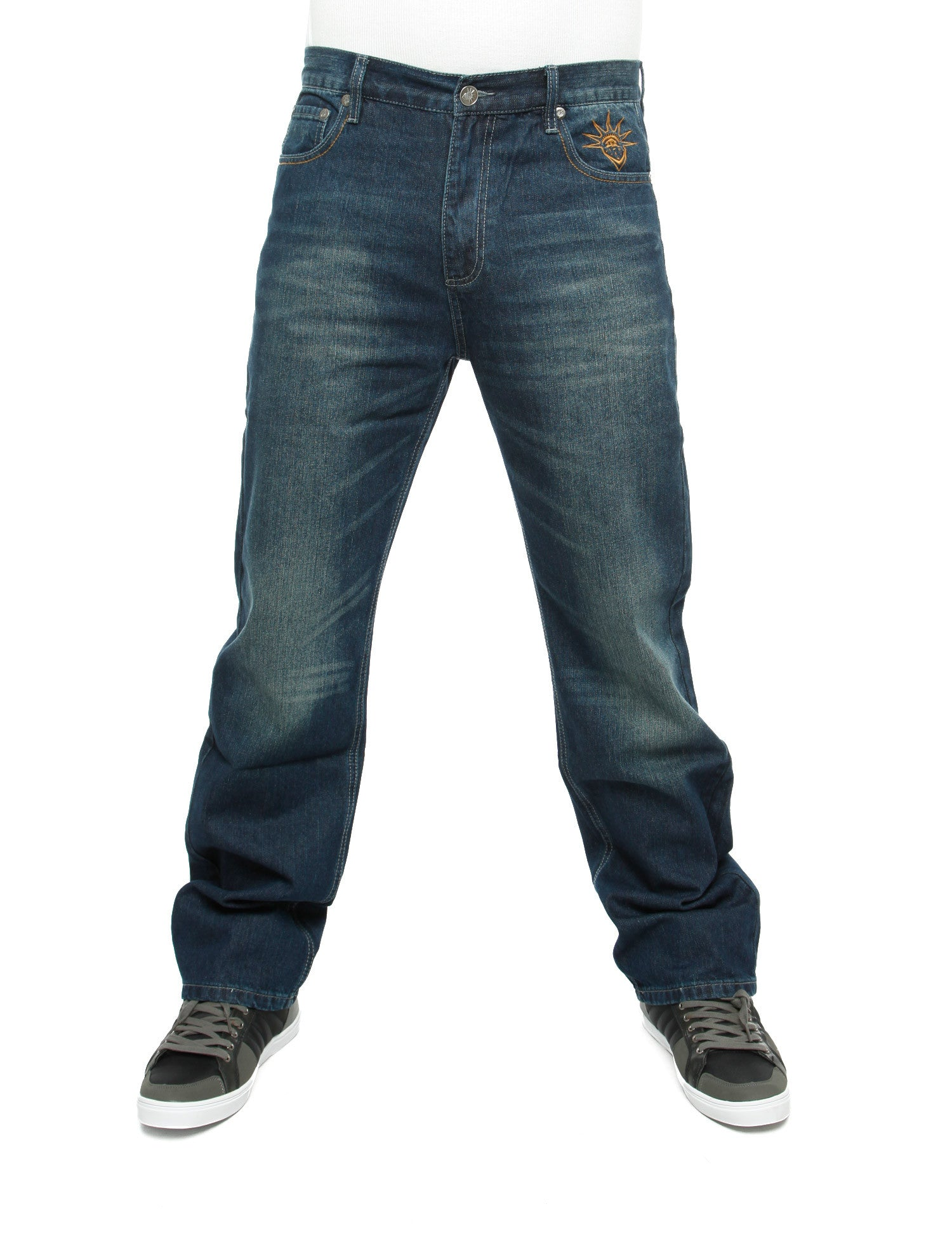 YLD Regular Baggy Jeans  Blue