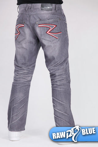 Raw Blue Zigzag Jeans J-9174 Grey