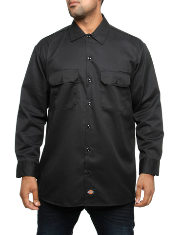 Dickies Long Sleeve Work Shirt 574 Black