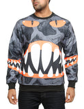 Imperious Dinosaur All-Over Sweatshirt CS530 Charcoal  Grey