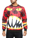 Imperious Dinosaur All-Over Sweatshirt CS530 Red