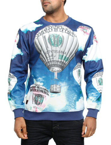 Imperious ?Money Bloom? Sweatshirt CS539 Blue