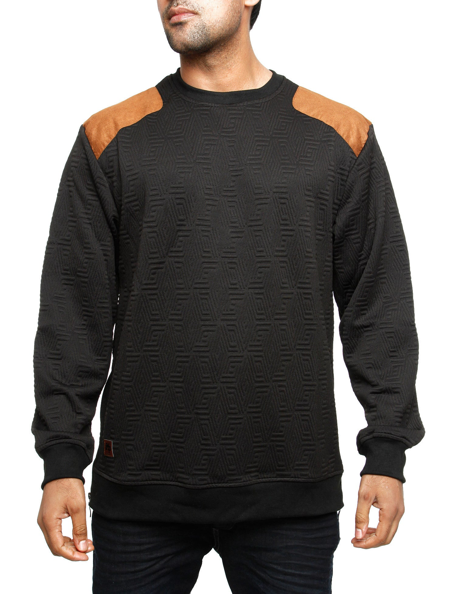 Imperious ?Quilted? Sweatshirt CS542 Black