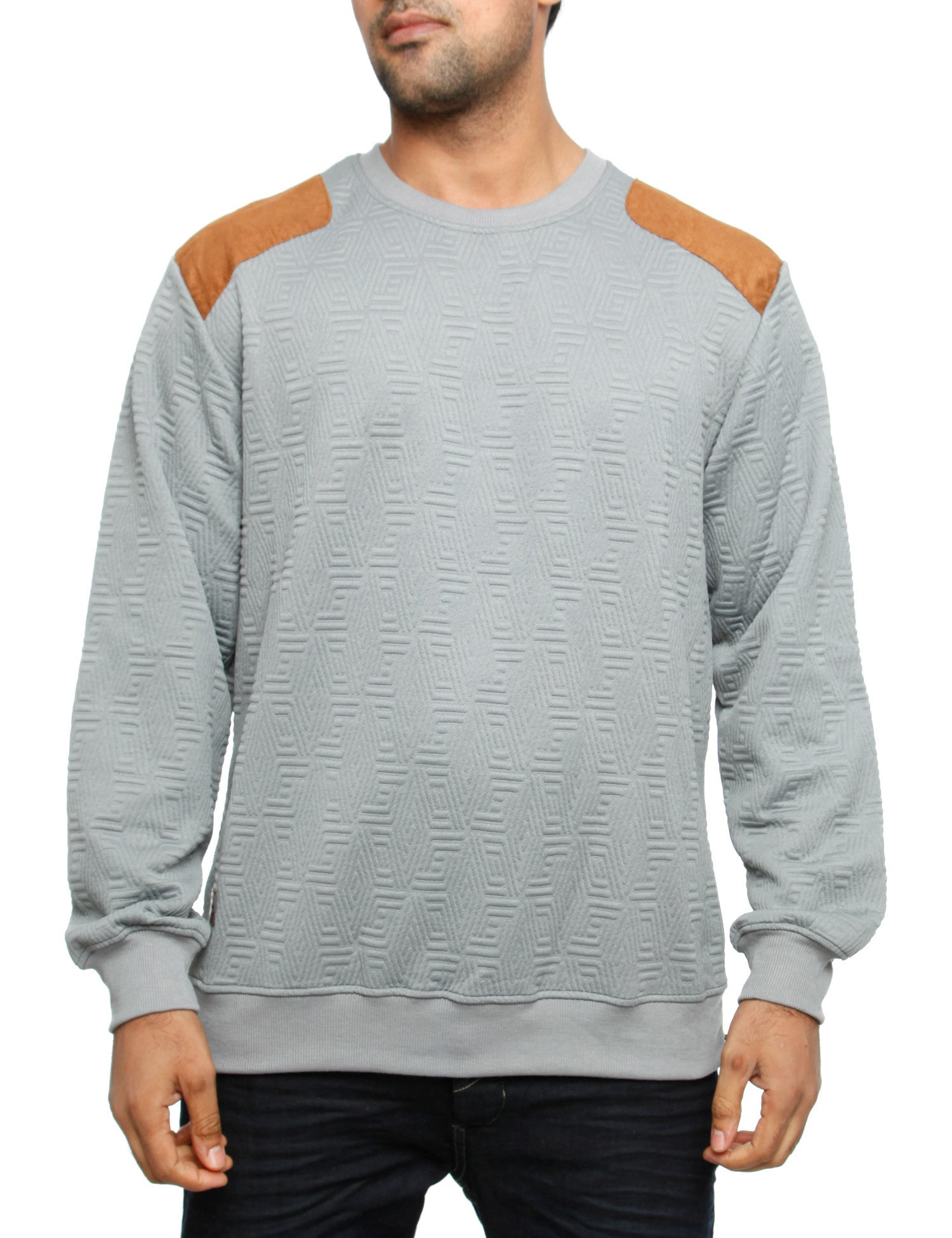 Imperious ?Quilted? Sweatshirt CS542 Grey