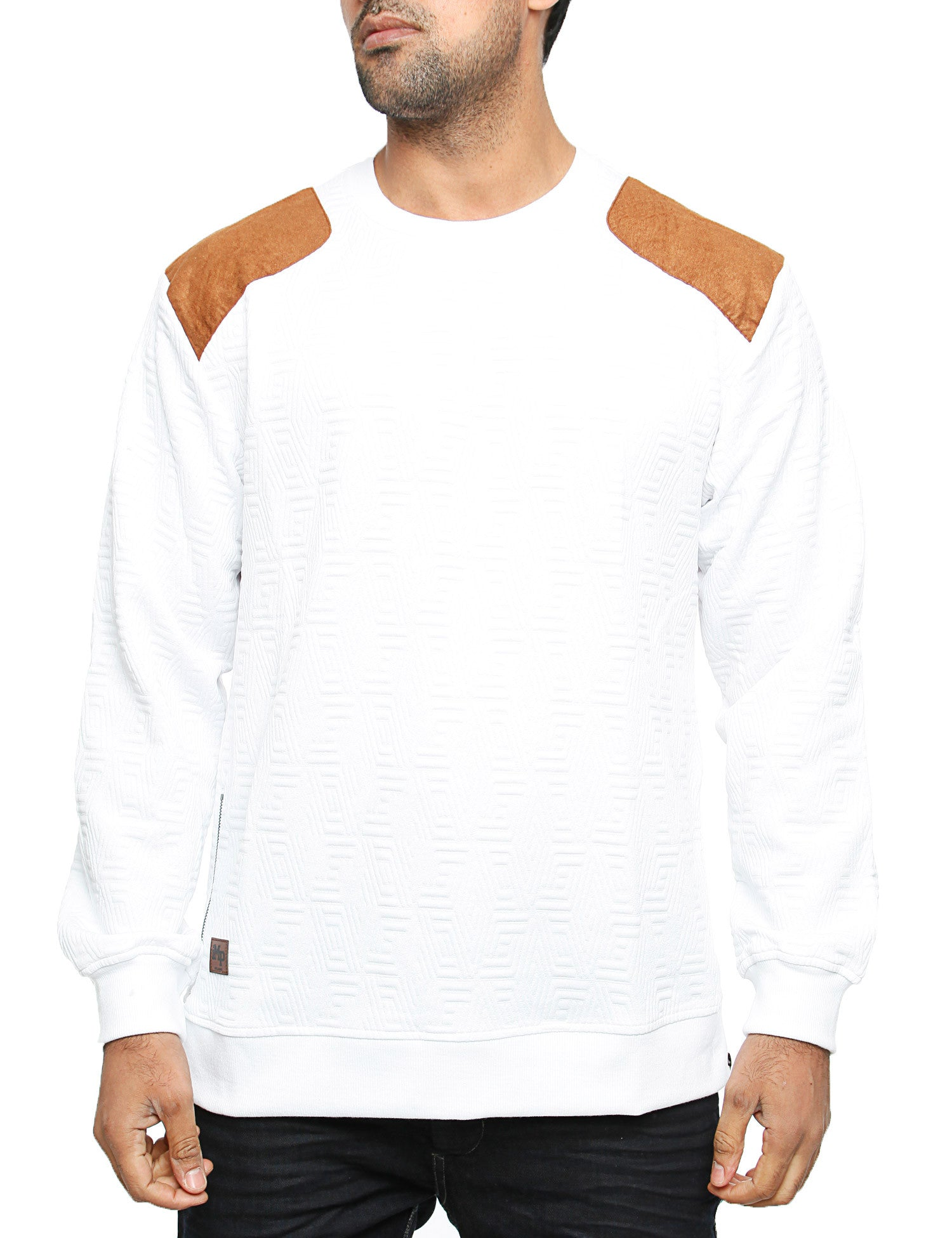 Imperious ?Quilted? Sweatshirt CS542 White