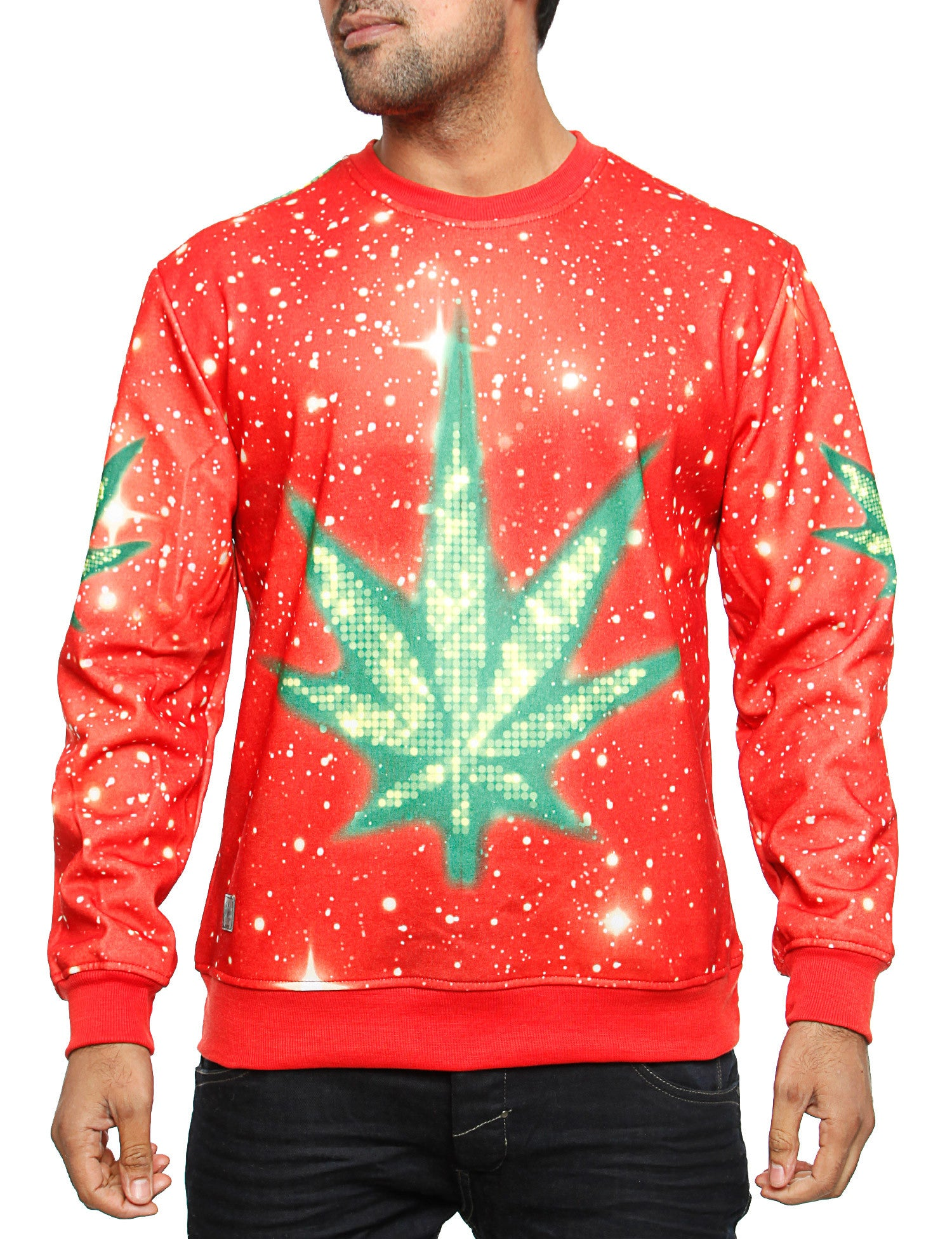 Imperious ?Marijuana? Galaxy Sweatshirt CS563 Red