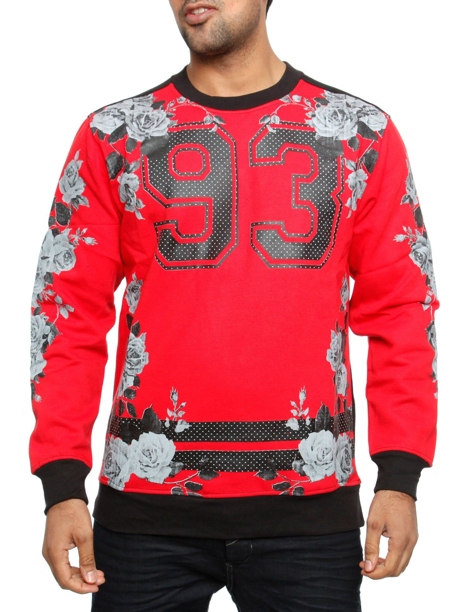 Imperious ?93? No. & Rose Sweatshirt CS82 Red