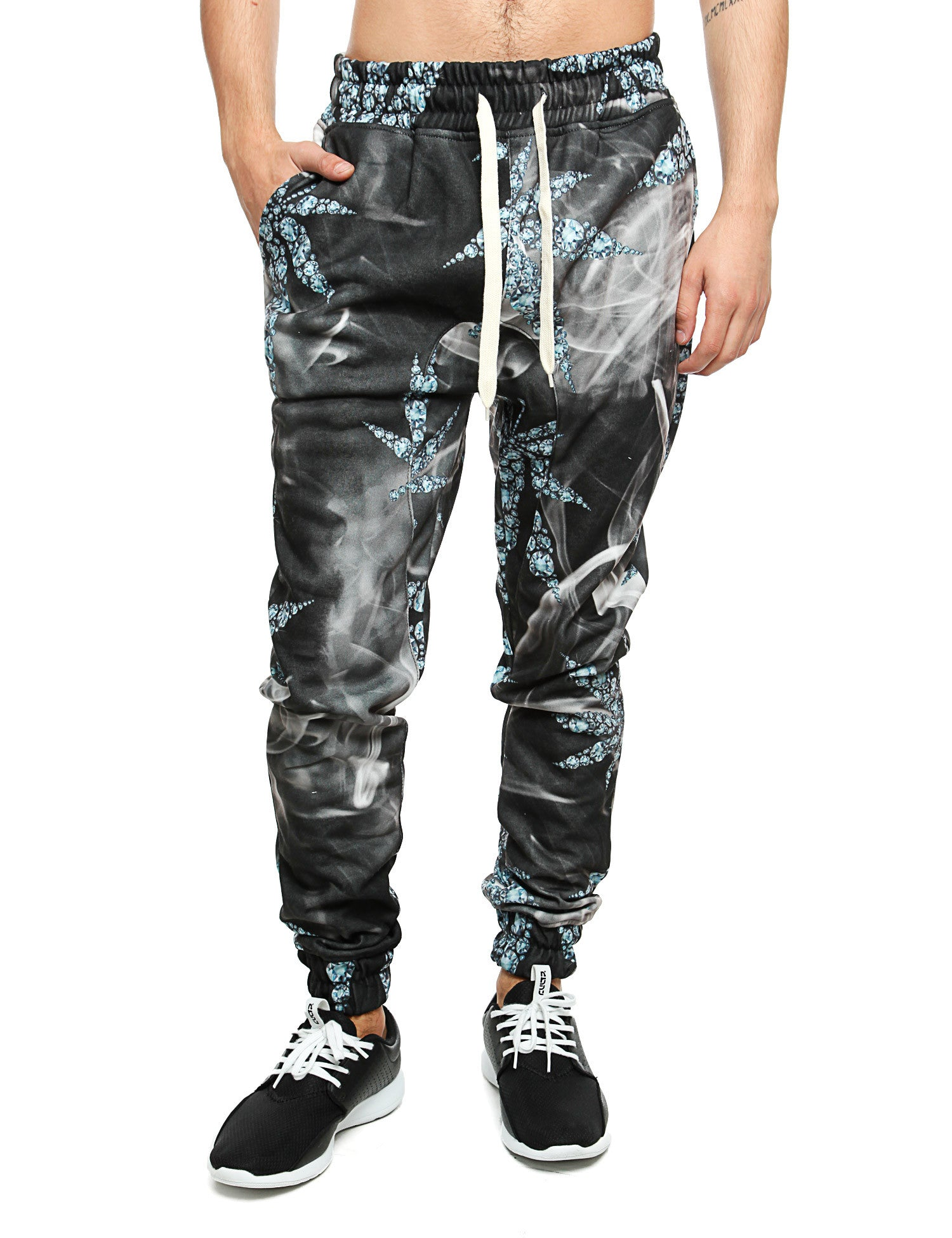 Imperious ?Diamond Leaf? Sweatpant FP522  Black
