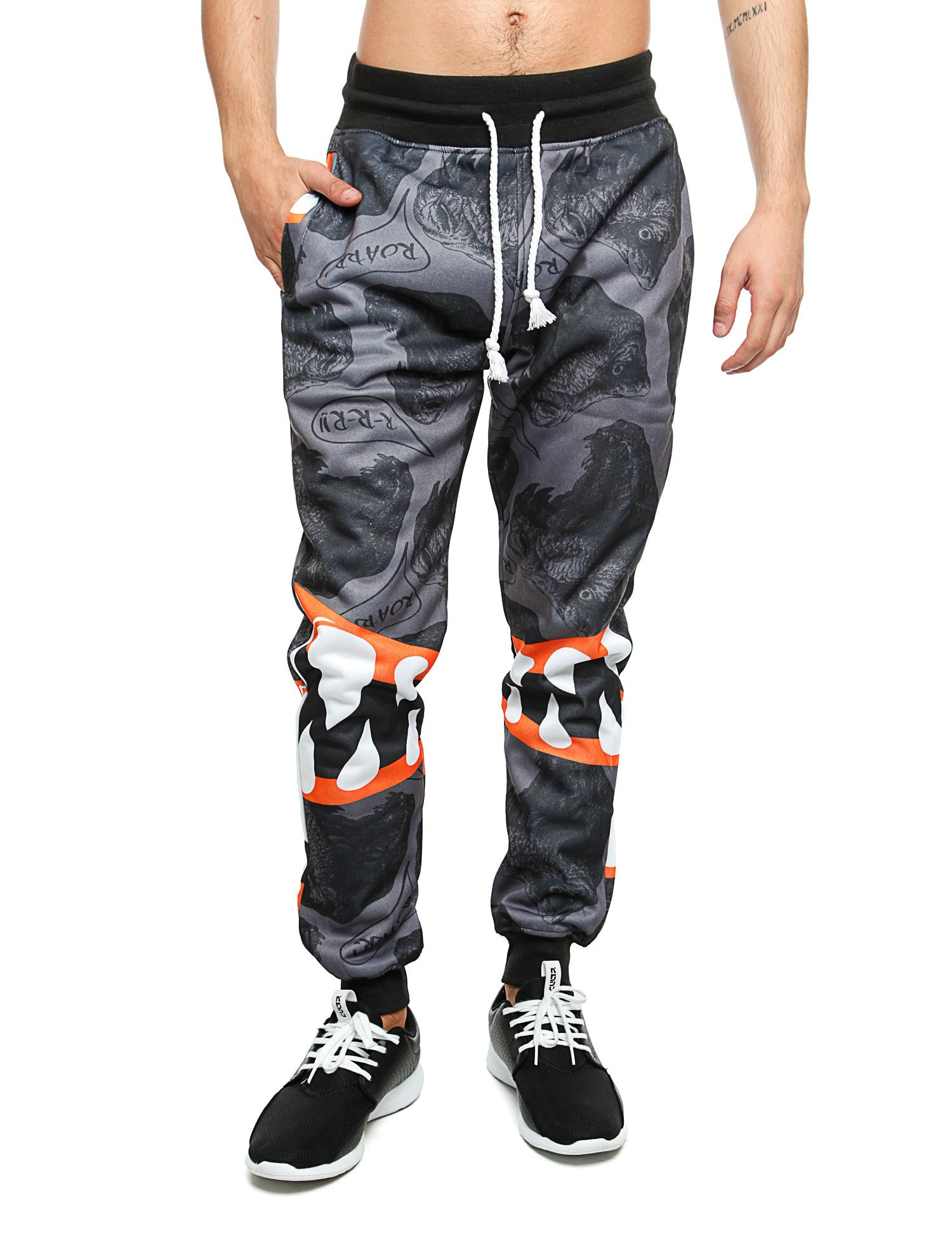 Imperious ?Dinosaur? All Over Sweatpant FP530 Grey