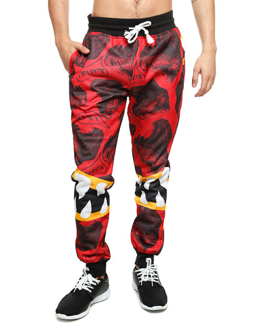 Imperious ?Dinosaur? All Over Sweatpant FP530 Red