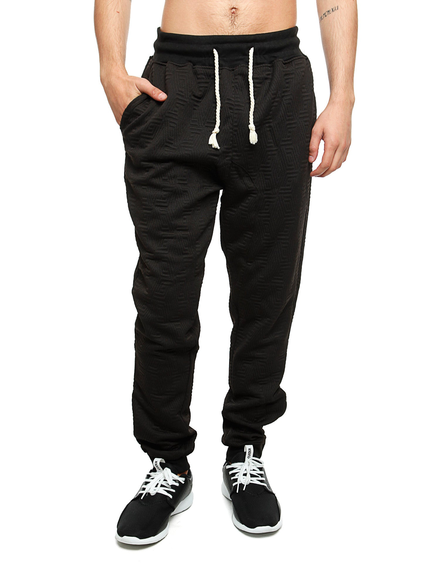 Imperious ?Quilted? Sweatpant FP542 Black