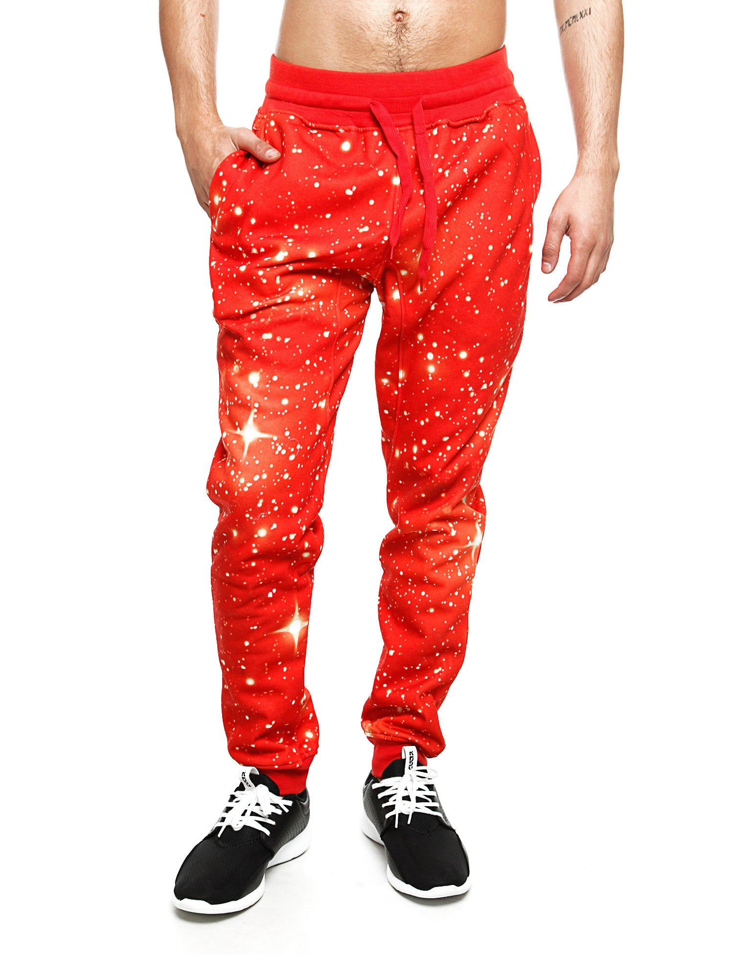 Imperious Galaxy All Over Sweatpant FP563 Red