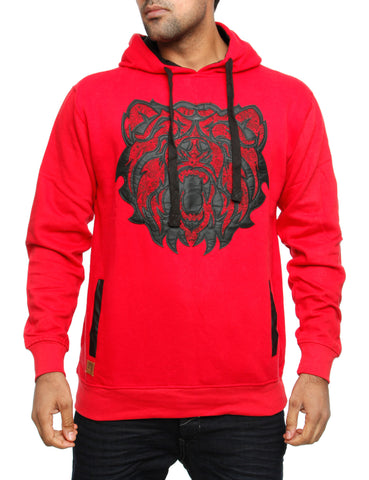Imperious Bear PU Applique Hoody HS24 Red