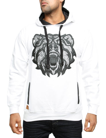 Imperious Bear PU Applique Hoody HS24 White