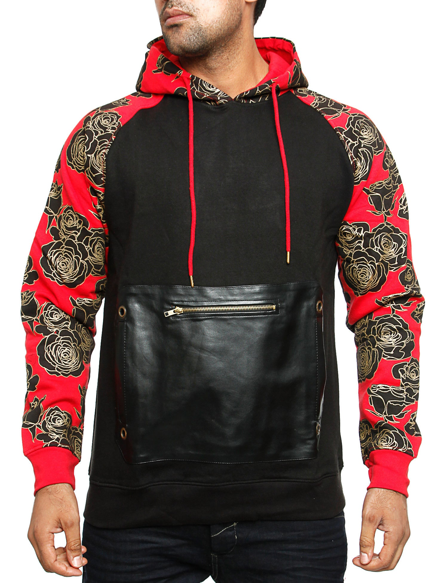 Imperious Goldan Raglan Fleece Hoody HS25 Red