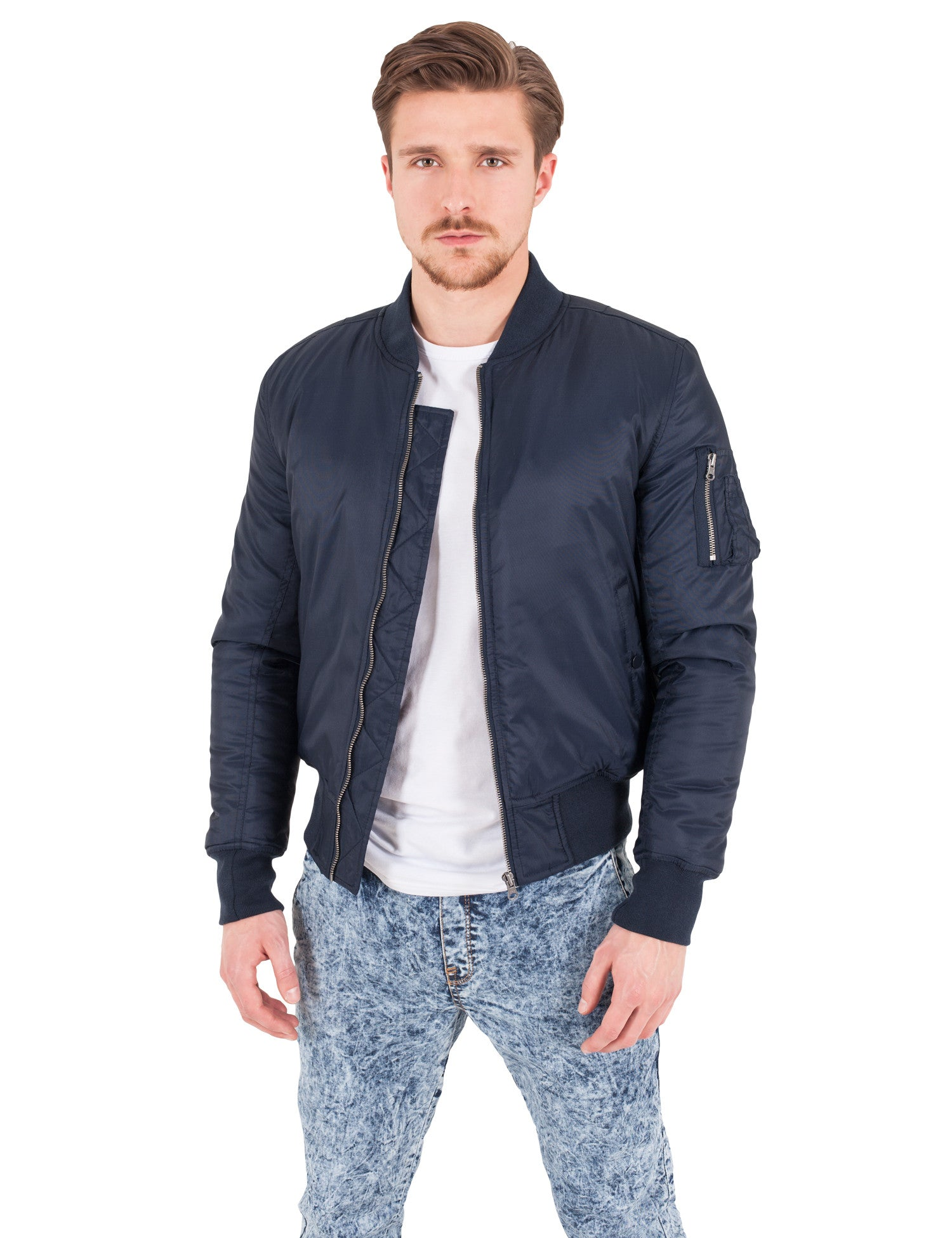 Basic Bomber Jacket TB861 Navy