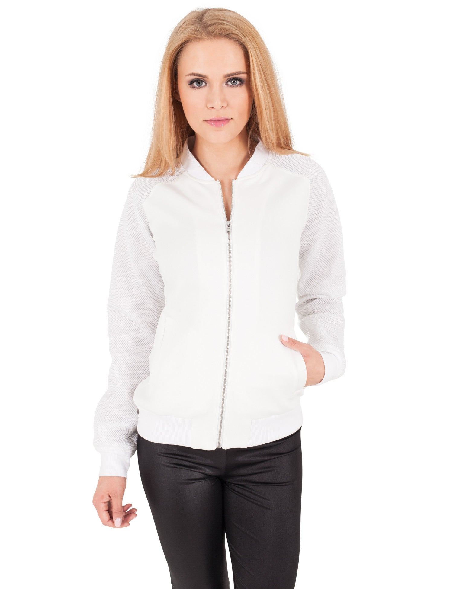 Ladies Scuba Raglan Mesh Jacket TB1067 White