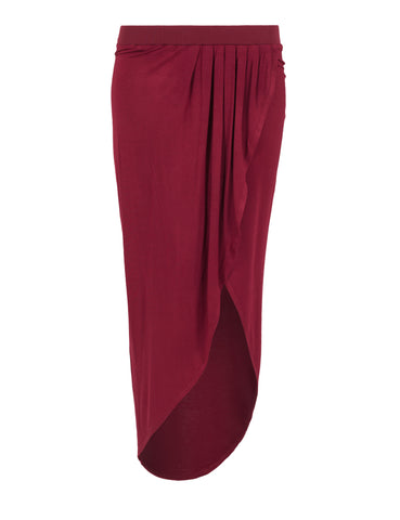 Ladies Long Viscon Skirt TB1043 Brown