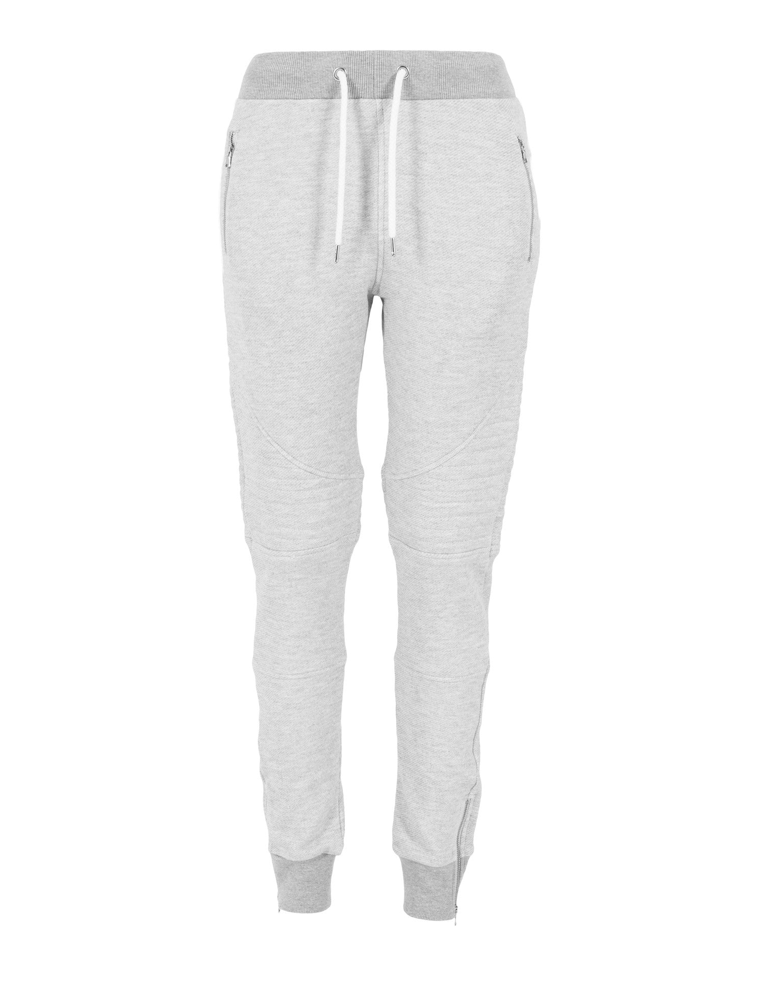Ladies Melange Biker Sweatpants TB1055 Grey
