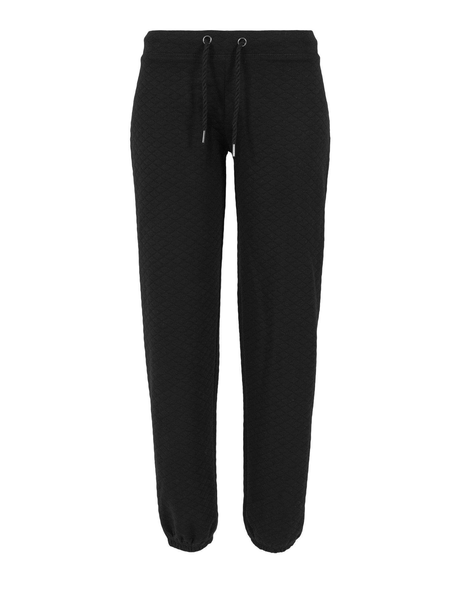 Ladies Quilt Jogging Pants TB1072 Black