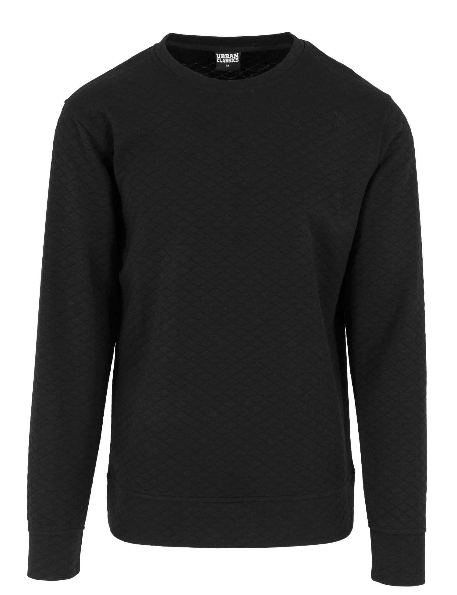 Diamond Quilt Crewneck TB1109 Black