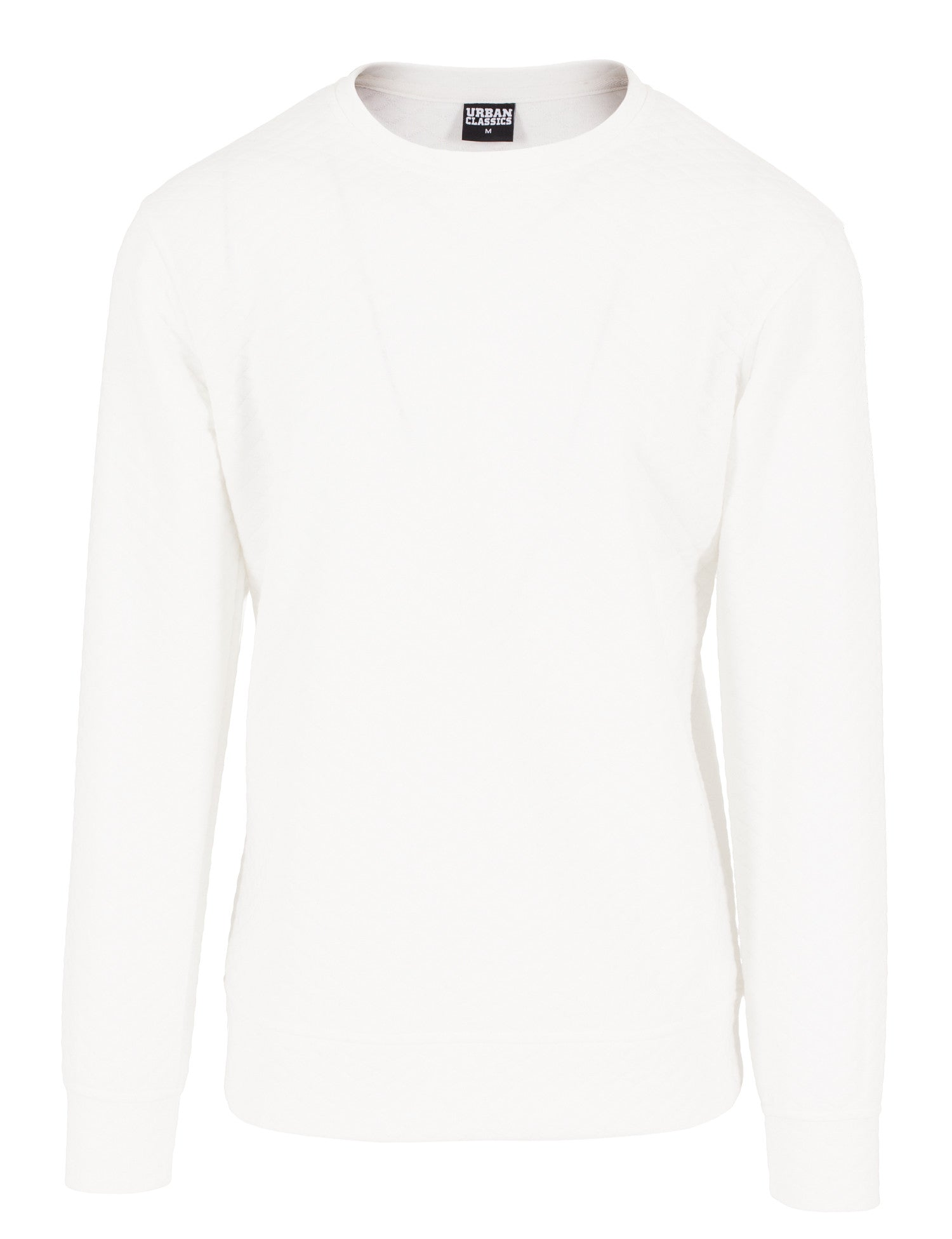 Diamond Quilt Crewneck TB1109 White