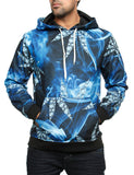Imperious ´Diamond´ All-Over Hoody HS522 Blue