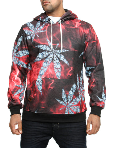 Imperious ?Diamond? All-Over Hoody HS522 Red