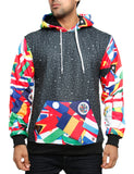 Imperious ´Flag Print´ Hoody HS527 Black
