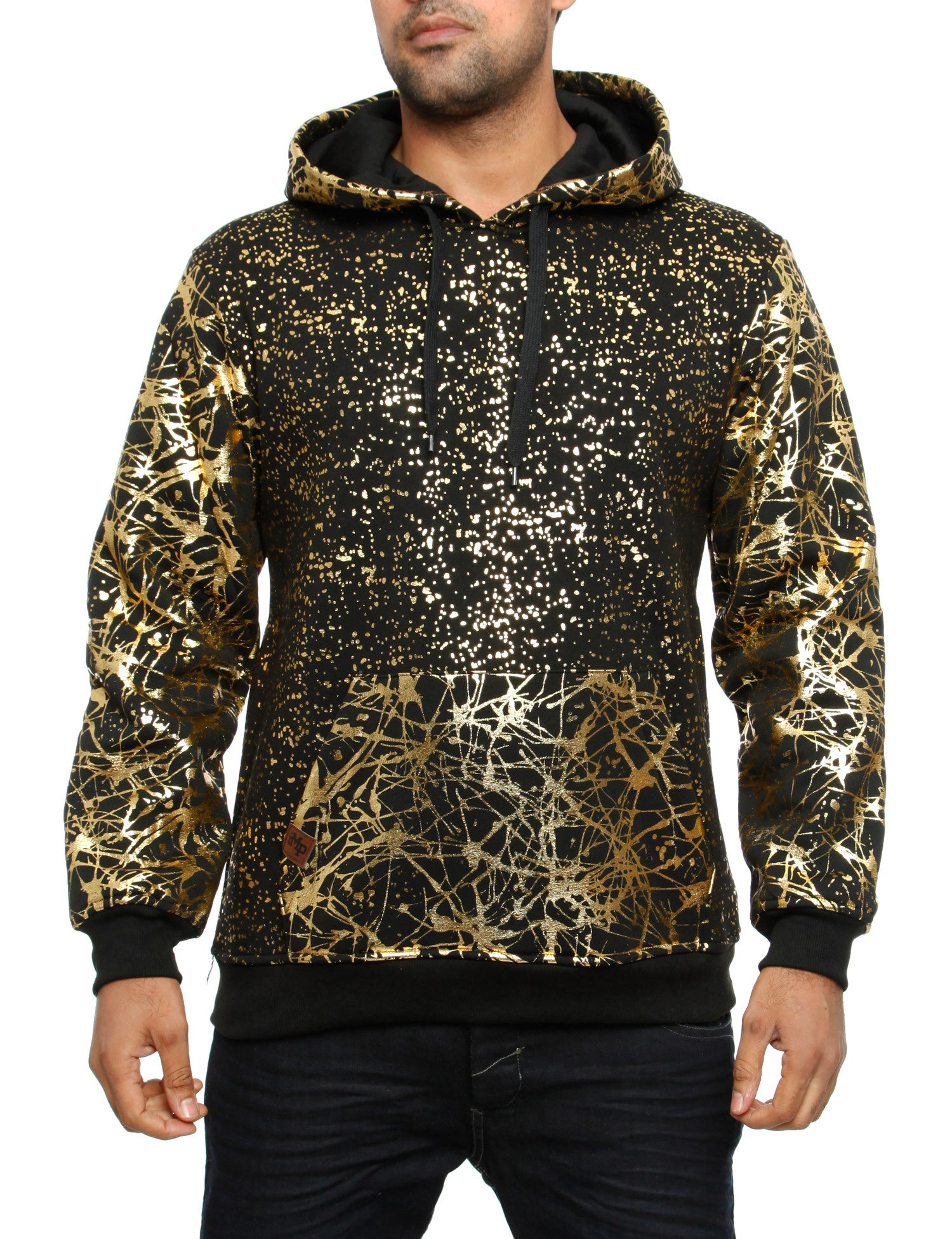 Imperious ?Gold Splatter? Hoody HS549 Black
