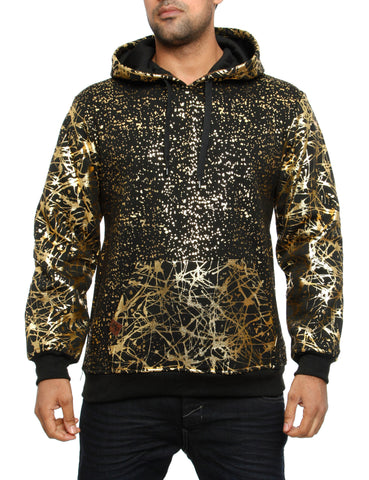 Imperious ´Gold Splatter´ Hoody HS549 Black