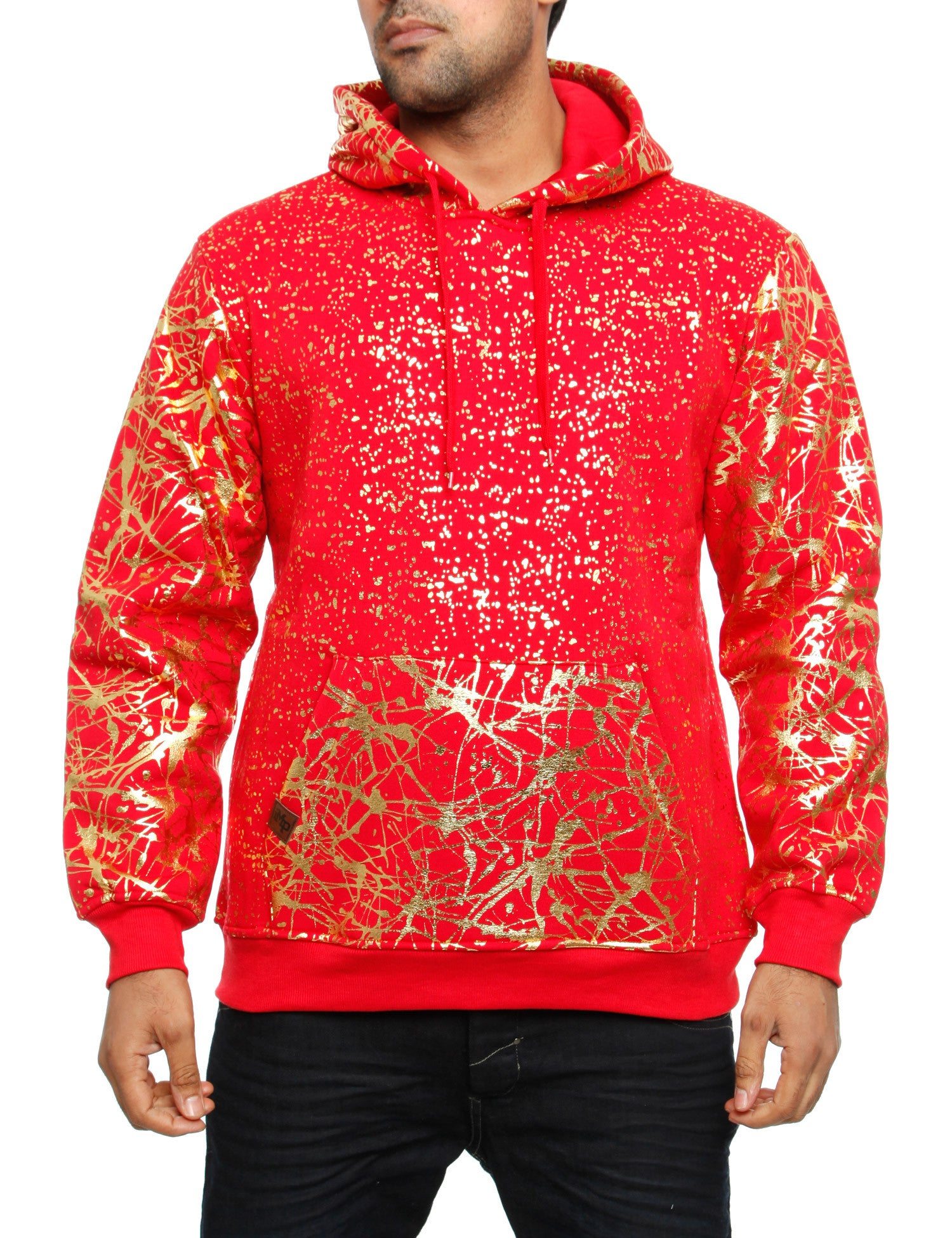 Imperious ?Gold Splatter? Hoody HS549 Red