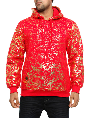 Imperious ´Gold Splatter´ Hoody HS549 Red
