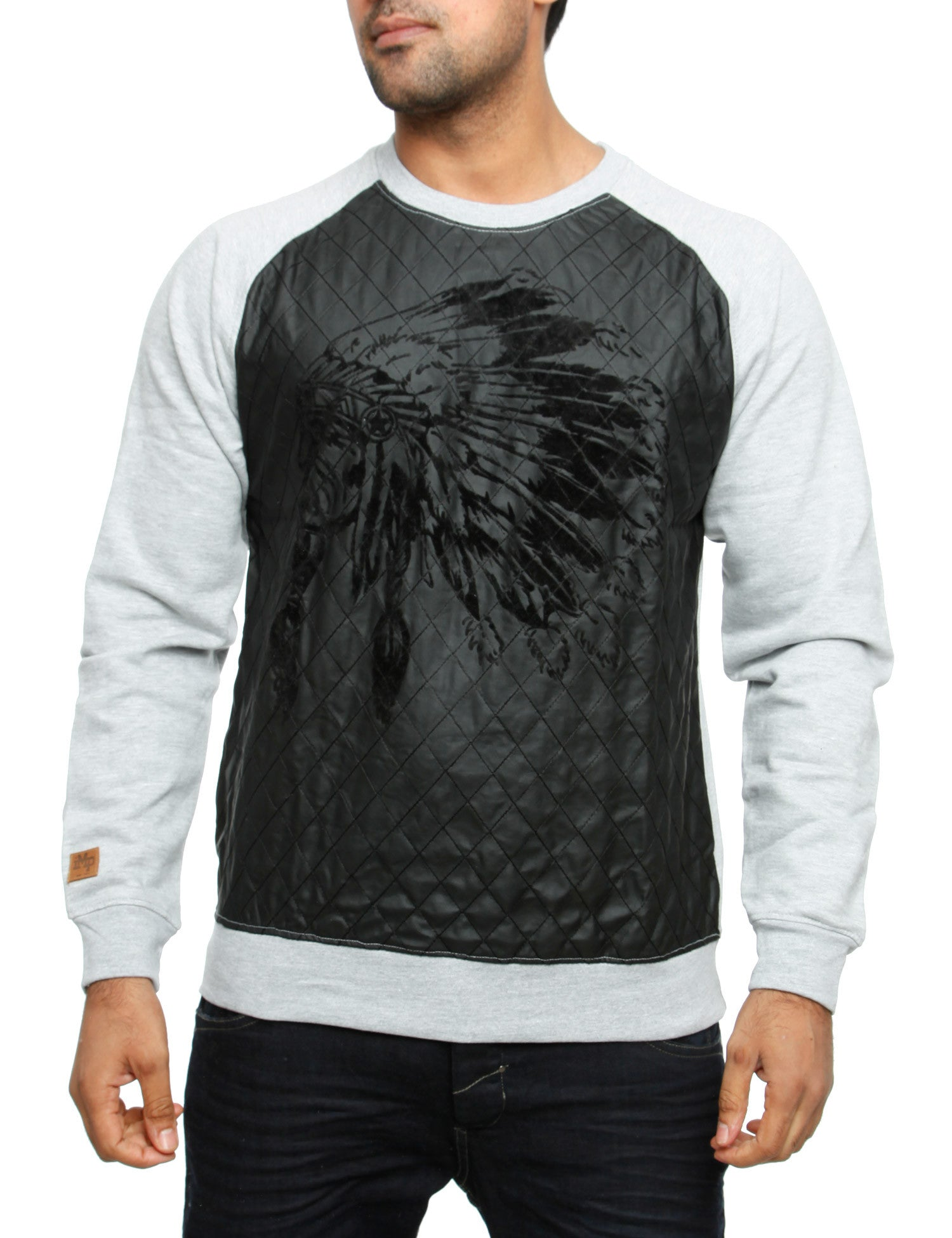 Imperious ´Chief´ Flocking PU Sweatshirt CS36 Grey
