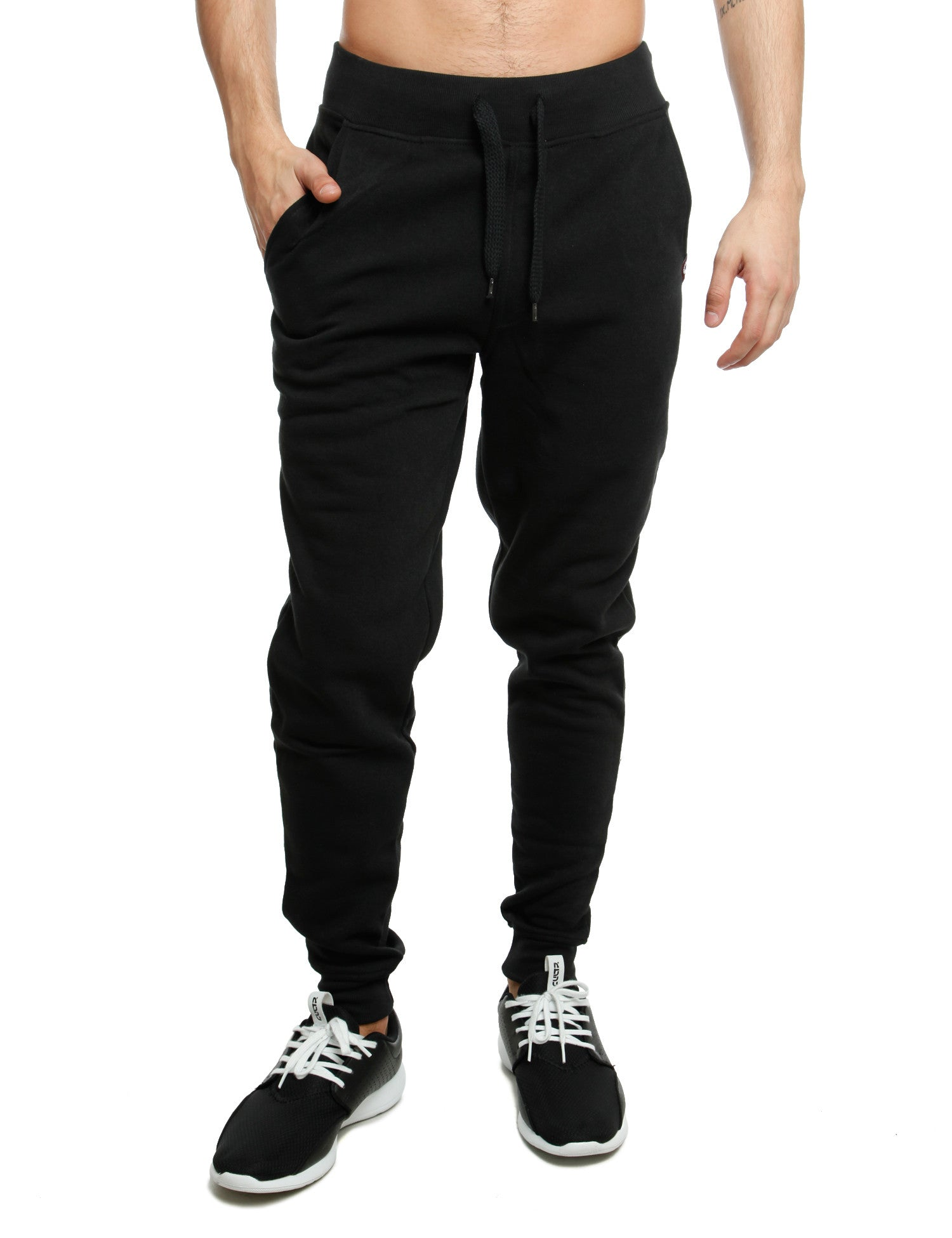 Akademiks FLATBUSH Fleece Sweatpants A35SP15 Black