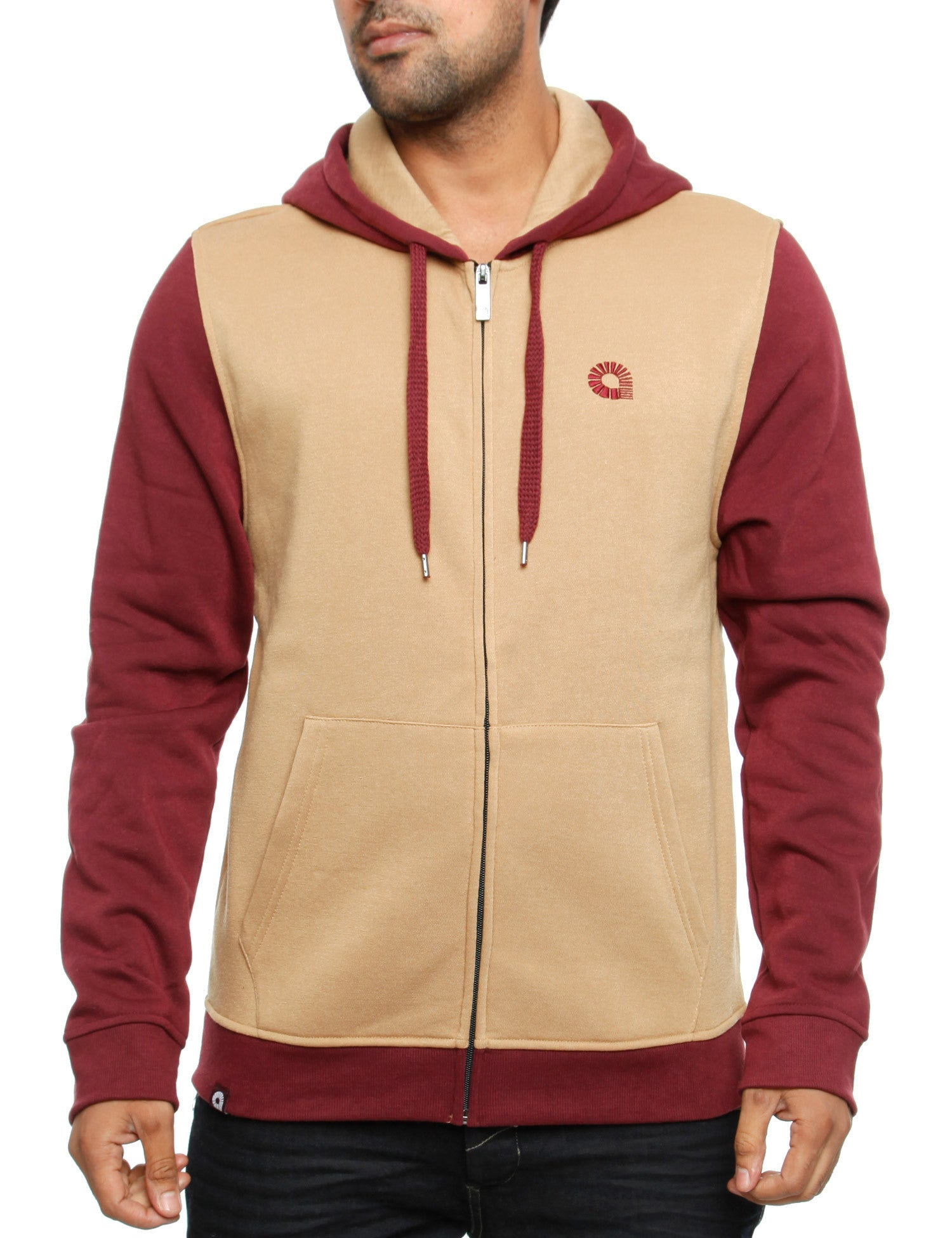 Akademiks TIMBER 2-TONE Hoody A35HD13 Wheat Brown