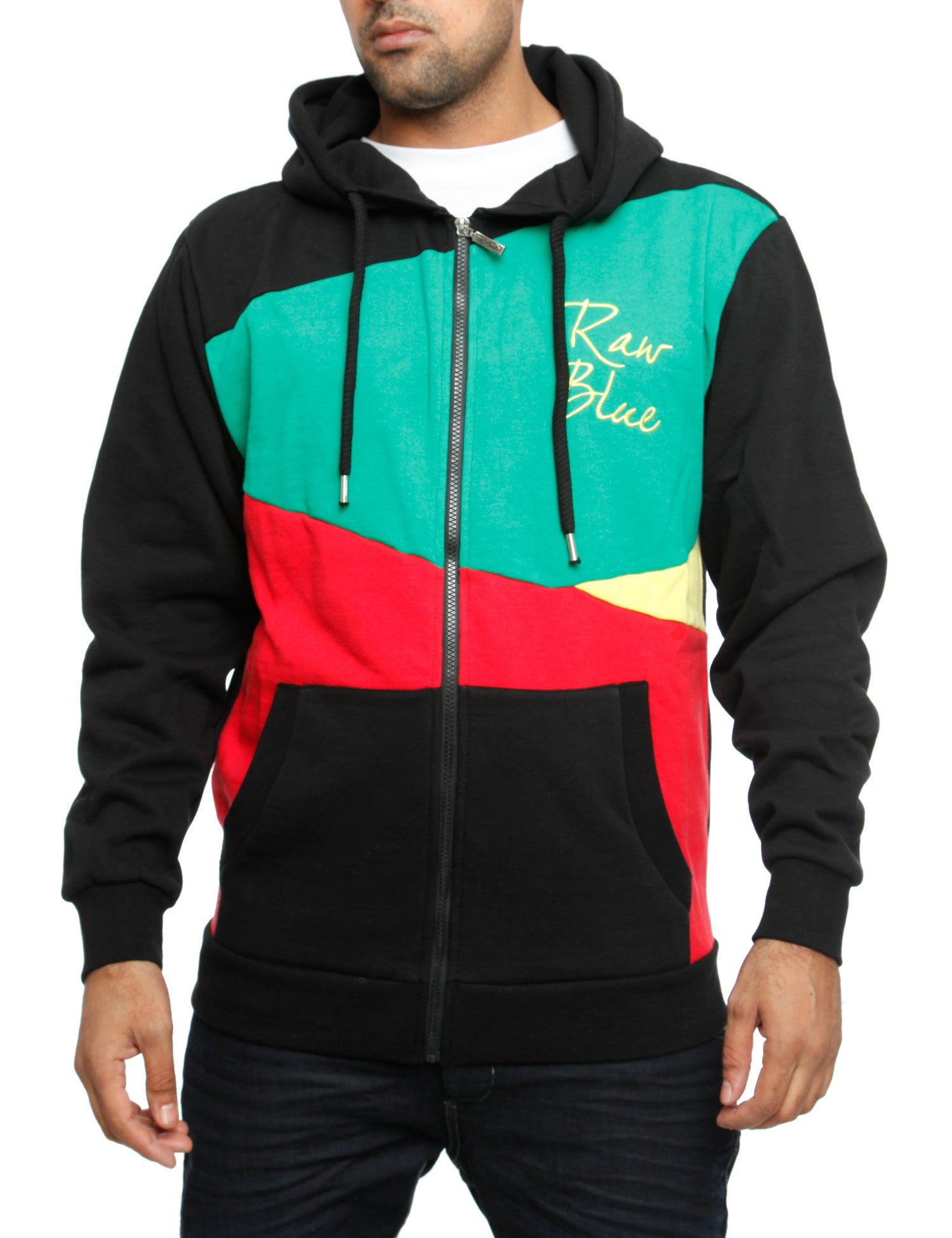 Raw Blue Zip Hoody RBCZ1007 Black