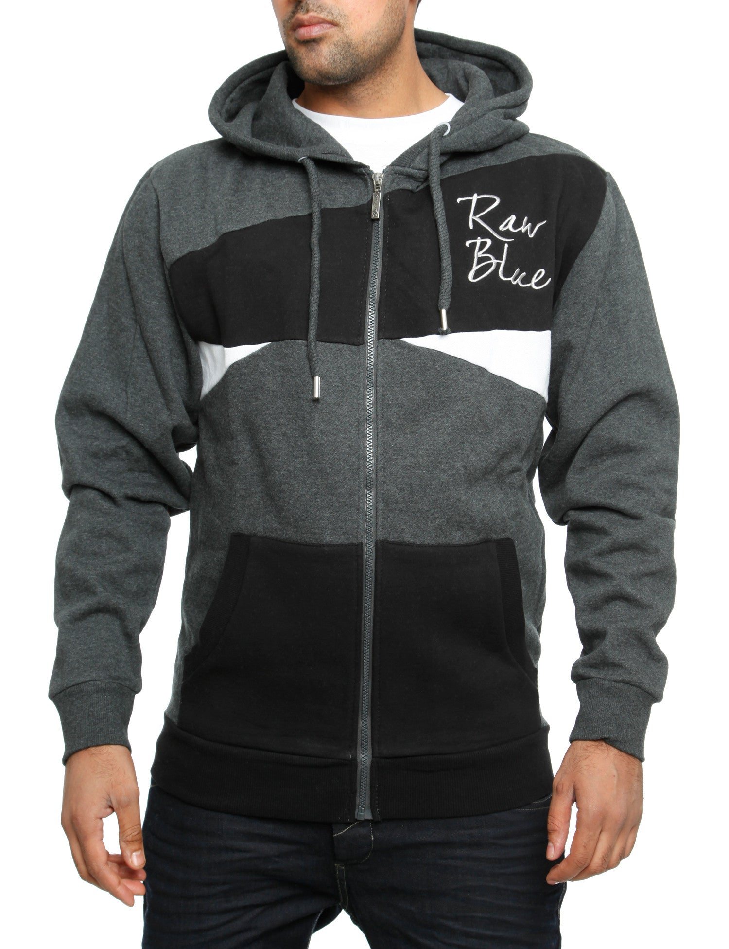 Raw Blue Zip Hoody RBCZ1003 Grey