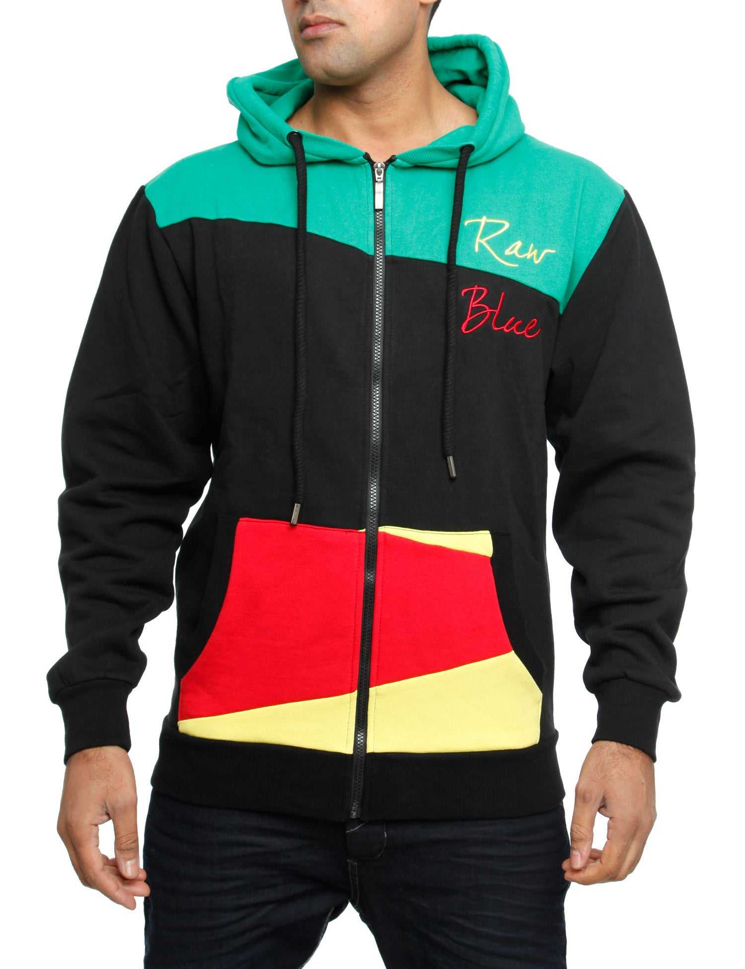 Raw Blue Zip Hoody RBCZ1005 Black