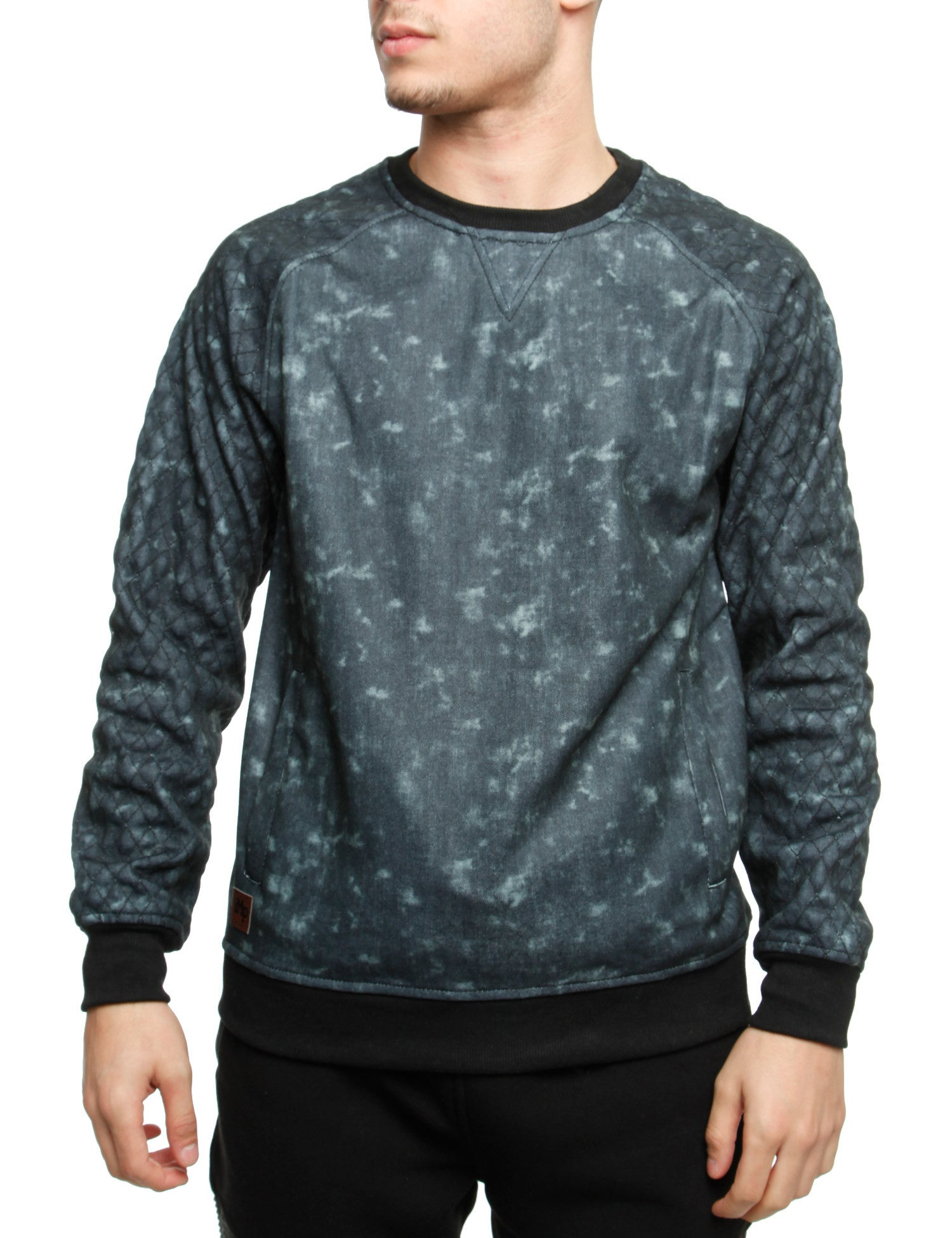 Imperious Denim Effect Crewneck CS562 Black