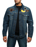 Imperious Denim Jacket with Patches DJ08 Dark Blue