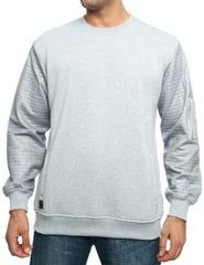 Imperious Quilted Crewneck CS566 H. Grey