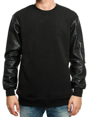 Imperious Quilted Crewneck CS566 Black